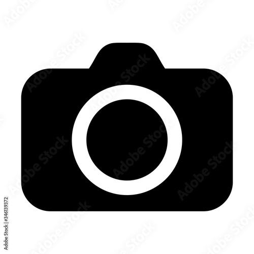 Camera icon isolated on white background Fotobehang