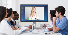 Telemedicine Concept. Group Of...