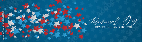 Fotografie, Tablou Memorial Day banner or header