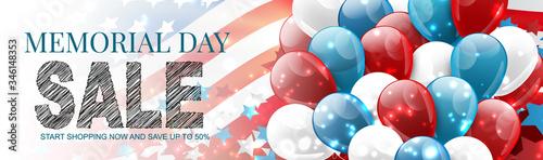Stampa su Tela Memorial Day sale banner or long header