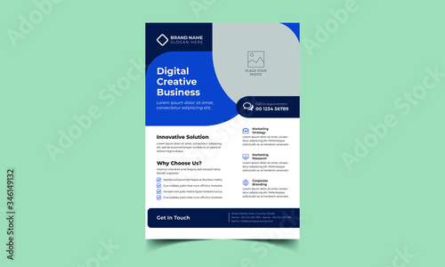 Fotografie, Obraz Colorful Corporate Modern Business Flyer Template and Poster Template