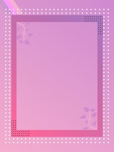 Pink Background With Frame For...