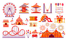 Circus Carnival Elements Set I...