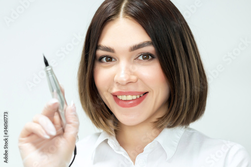 Microblading tools used for applying permanent eyebrow makeup Canvas Print