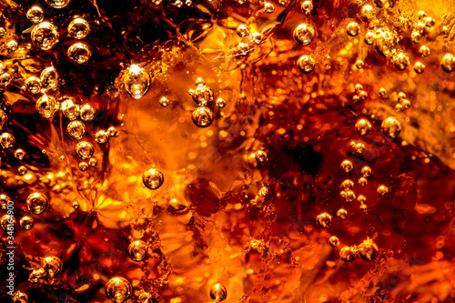 Photo Macro soft drinks,Cola close-up,Ice cold drink, Photos Detail of Cold Bubbly Car