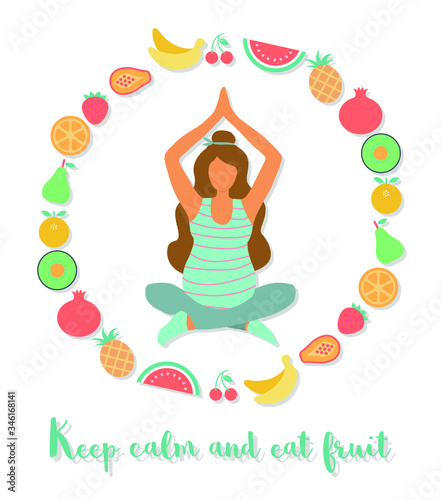 Платно Keep calm and eat fruit