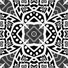 Black And White Floral Vector ...