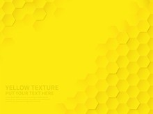 Hex Texture. Yellow Honeycomb ...