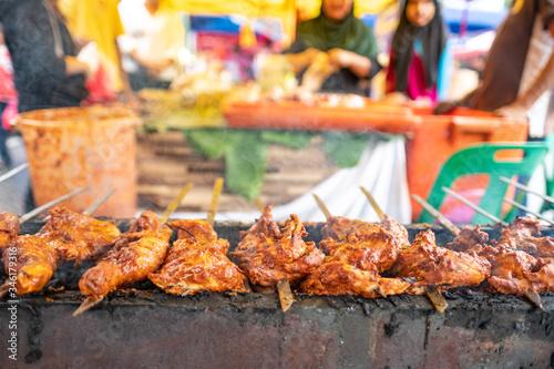 KUALA LUMPUR, MALAYSIA- A local Iftar food market on the outskirts of Kuala Lumpur Canvas Print