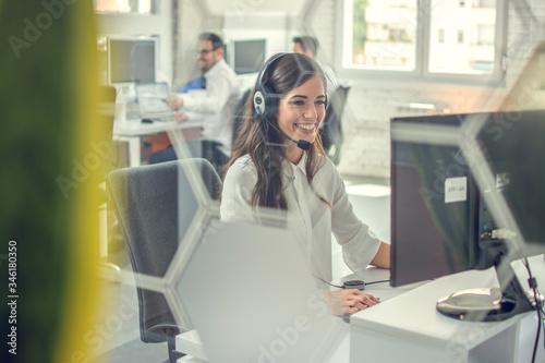 Fotografia Female customer support or sales agent