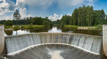 Waterfall At Hydroelectric Pow...