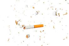 Broken Cigarette Fly In Air On...