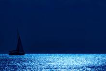 Silhouette Of A Sailing Boat O...
