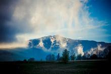 Beautiful Foggy Landscape In T...