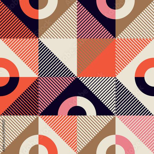 Mid-Century Abstract Vector Pattern Design Wallpaper Mural