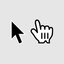 Click Icon. Cursor Symbol Modern, Simple, Vector, Icon For Website Design, Mobile App, Ui. Vector Illustration