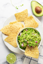 Greet The Sun Fresh Guacamole With Chips