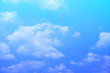 beauty soft light blue and violet with fluffy clouds on sky. multi color rainbow image. abstract fantasy growing sweet view.