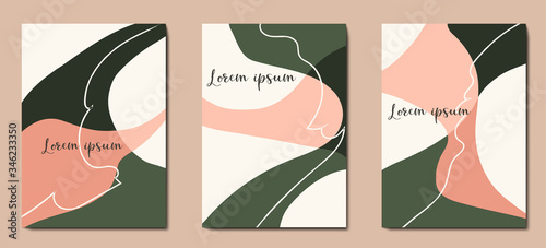 Fototapety, obrazy: Abstract trendy pastel universal artistic templates. Good for cover, invitation, banner, placard, brochure, poster, card, flyer and other.