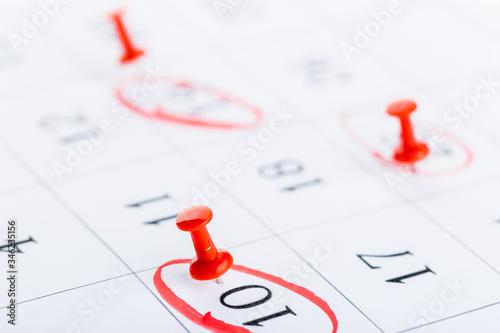 2020 calendar page marked with an important date in red pin Tapéta, Fotótapéta