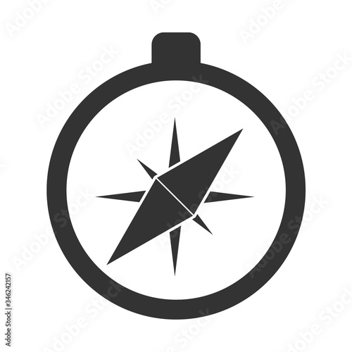 Vector compass icon Canvas Print