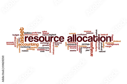 Resource allocation word cloud concept Canvas Print