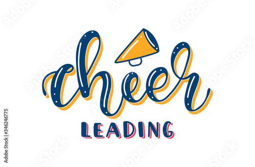 Cuadros en Lienzo Cheerleading - Colored Lettering with Megaphone
