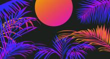 Tropical Summer Sunset Landsca...