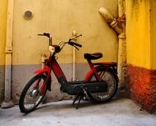 Moped In Corner