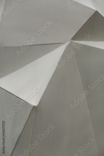 Abstract gray vertical geometrical low poly metal background Canvas Print