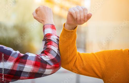 Elbows bump Canvas