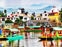 People In Houseboats Sailing O...
