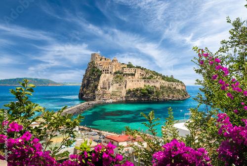 Landscape with Aragonese Castle,  Ischia island, Italy Tapéta, Fotótapéta