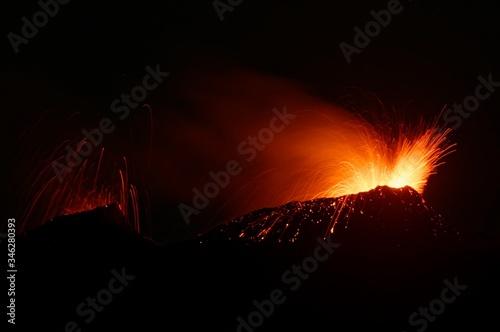 View Of Erupting Volcano Fototapeta