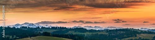 Fototapeta Zachód Słońca z Dursztyna. obraz