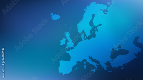 Europe / european map illustration