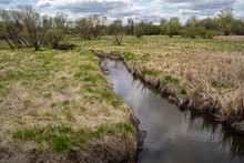 Wetlands And Marsh Of Elm Creek Park Reserve In Maple Grove, Minnesota In The Springtime