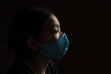 Profile Portrait Of Asian Girl...