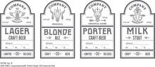 Beer Bottle Labels With Vintag...