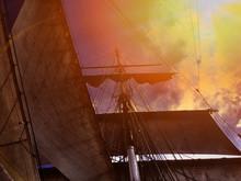 Mast And Sails Of Ship