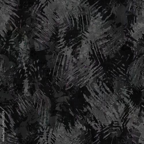 Seamless distressed glitch blur woven texture background Canvas Print