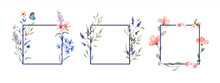 Floral Watercolor Flower Frame...