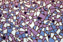 Decorative Tile-shard Mosaic Lilac White