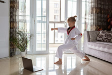 Taekwondo Girl In Kimono With ...