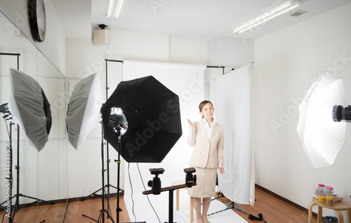 Fototapeta スタジオ撮影イメージ obraz