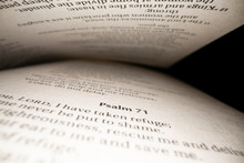 View Of Text In Book Of Psalm Nside The Bible