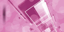 Abstract Pink Rectangles Perspective Background