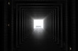 Leinwandbild Motiv Light At The End Of The Tunnel