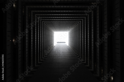 Light At The End Of The Tunnel Fototapeta