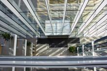 Huge Atrium In Modern Office B...